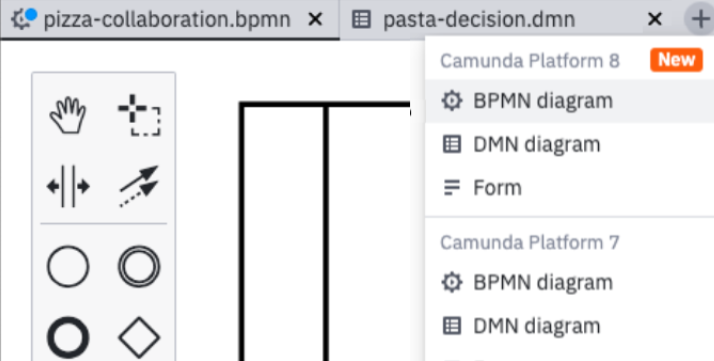 Open multiple BPMN 2.0 diagrams